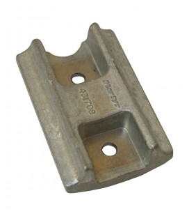 Zinc Engine Anode - CM431708Z - BOMBARDIER/JOHNSON/EVINRUDE CURVED BLOCK - PROP SHAFT