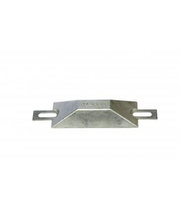 EUROPEAN STYLE HULL ZINC ANODE - CM500Z - 116X43X24MM -  113X150MM HOLE SPACING 0.5KG