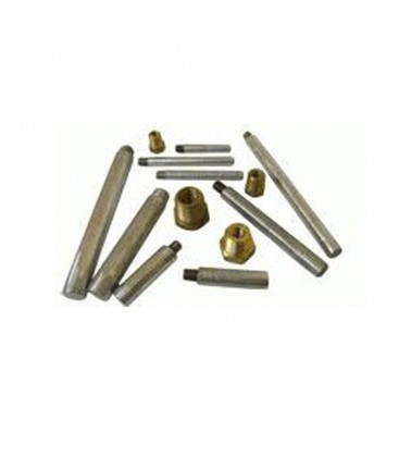 Zinc Pencil Anode - CME2 - MARTYR PENCIL 1/2 NPT X 5/8 X 2 WITH PLUG