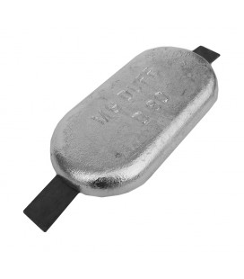 Aluminium Hull Anode - AD80 - Weld On - 3.0 KGS NOM NET WEIGHT