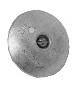 Zinc Hull Anode - ZD59 - DISC (PAIR) WITH BOLT 70MM DIA