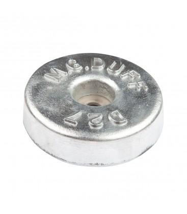 Aluminium Hull Anode - AD27 - Bolt On - DISC 1.1 KGS NOM NET WEIGHT 125MM DIA