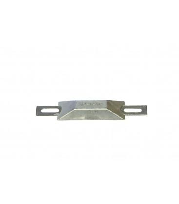 EUROPEAN STYLE HULL ZINC ANODE - CM200Z - 95X33X15MM - 100X135MM HOLE SPACING 0.2KG